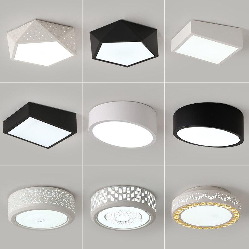 Ideal LED Ceiling Lights For Living Room Study Bedroom Home Dec Modern AC165-265V Lamparas De Techo Modern Led Ceiling Lamp Pane