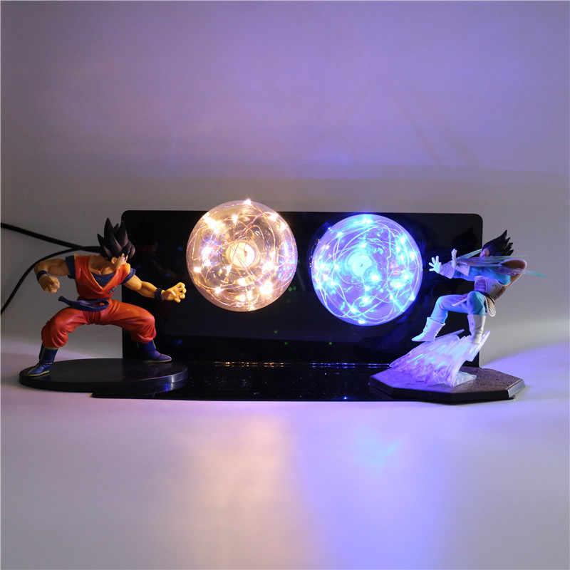 Dragon Ball Z Super Vegeta Goku vs Figuras de Ação Noite luz Modelo Anime Collectible Figurine Bebê DIY Crianças Brinquedos infantis lâmpada