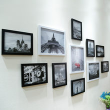 11pcs Wall Hang Collage Black & White Photo Frame Picture DisplayWall Hanging Photo Frame Set Modern Art Home Room Office Decor(China)
