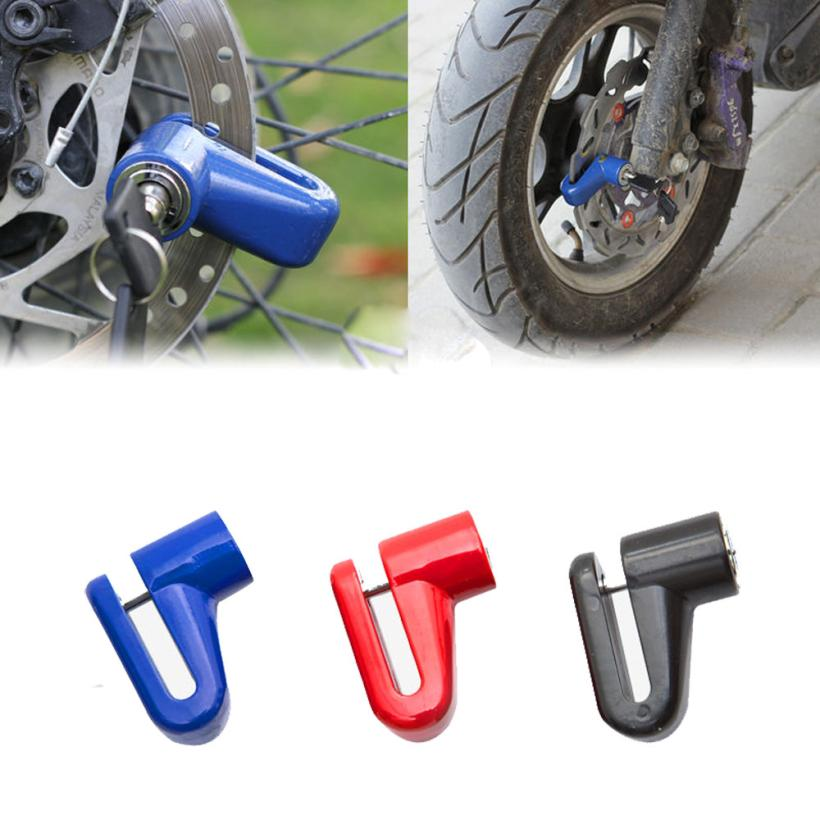 bike lock Disk Rotor Lock for  Scooter Bike Bicycle Motorcycle Safety Lock For Scooter Motorcycle Bicycle Safety #2A05 #H Замок