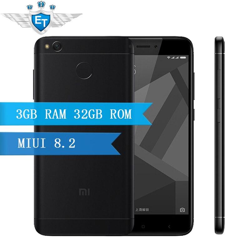 "Цена за Оригинал xiaomi redmi 4x pro 3 ГБ 32 ГБ 4 x смартфон 5.0 ""HD Экран Snapdragon 435 Окта основные 4100 мАч 13.0MP Глобальной ROM LTE ОТА"