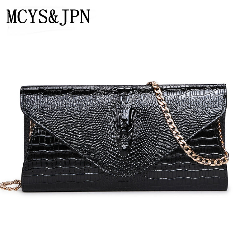 ФОТО 2017 New Luxury women leather day clutches bags handbags women famous brand alligator evening bags casual clutches wallets