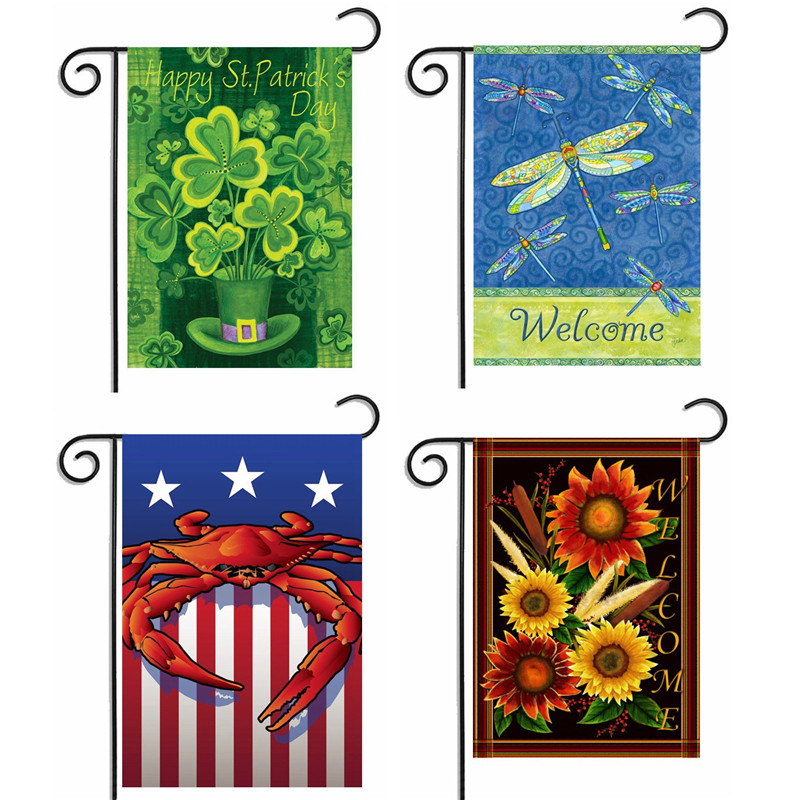 Perfect Flowers And Birds Garden Flag Hot Welcome Garden Banners Beautiful  Butterfly Dragonfly Garden Banner Home Decoration