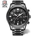 BINKADA Automatic Mechanical Wristwatches Black Steel Analog Sports Fashion Men Watch Auto Date Military Business Watches