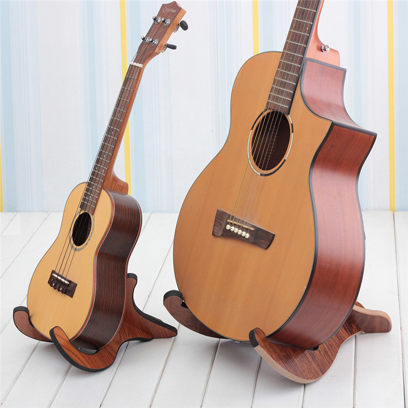 Folding Floor Wood Guitar Stand