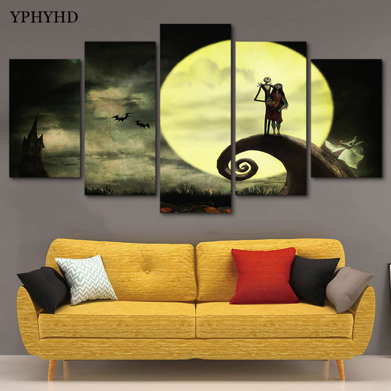 Magnificent Nightmare Before Christmas Wall Decor Gift - Wall Art ...