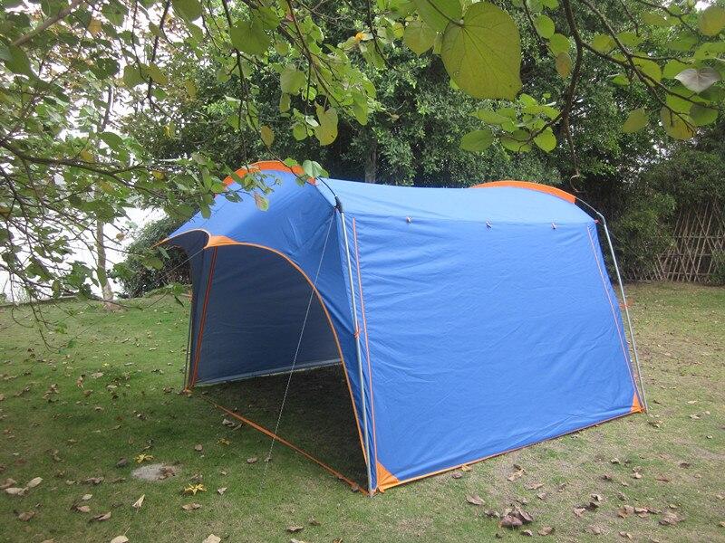 Ultralarge 4-6 personne 425*310*210 CM étanche grand Gazebo auvent abri soleil plage tente Camping tente
