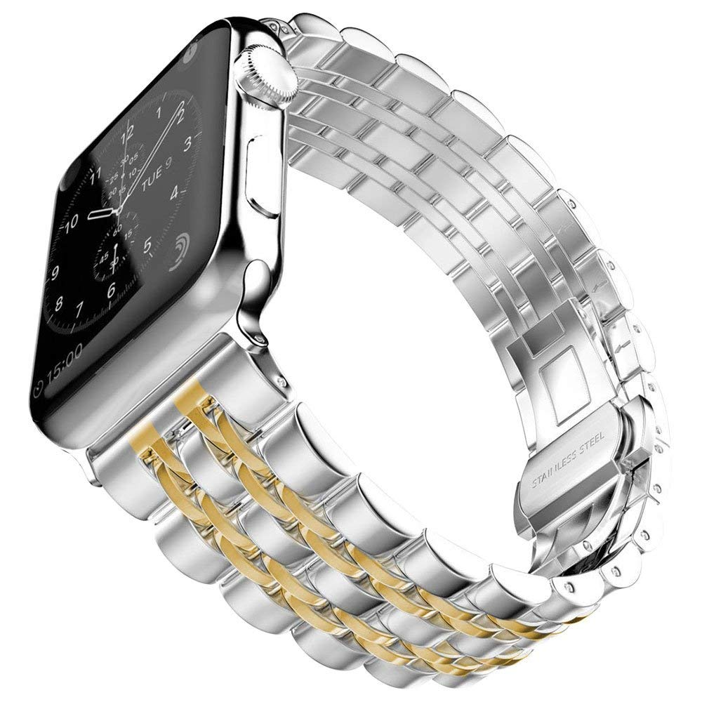 For Apple Watch band strap Series 4 40mm 44mm / Series 3 38mm 42mm Women Men Stainless Steel Band Iwatch metal Replacement StrapFor Apple Watch band strap Series 4 40mm 44mm / Series 3 38mm 42mm Women Men Stainless Steel Band Iwatch metal Replacement Strap