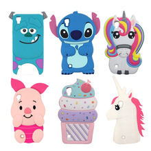 For LG X Power Case 3D Silicone Ice Cream Minnie Mouse Rabbit Stitch Unicorn Cartoon Soft Phone Cover For LG X Power K210 K220DS цена