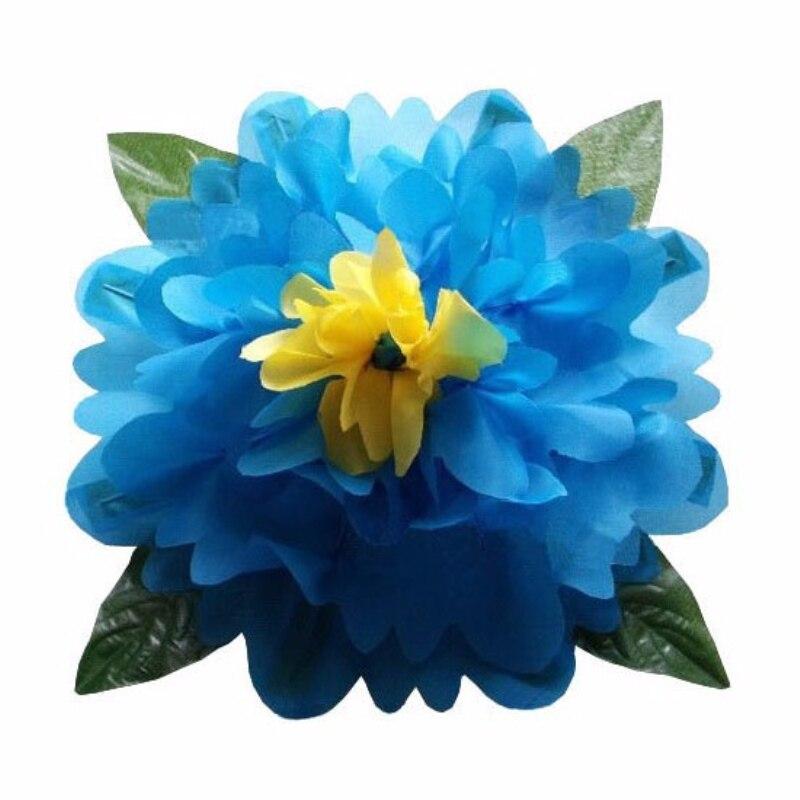 Grande apparence pivoine bonne qualité pivoine bleue (diamètre 80 cm) accessoires fleurs tours de scène magique