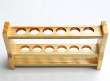 Wooden Test Tube Rack, 6 Hole diameter 25mm and Pins-Solid Wood.