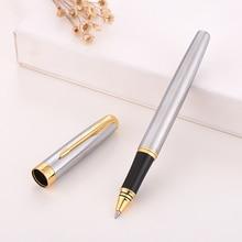 Buy Baoer388 luxury Rollerball Pen Black Golden Business Office Metal Ballpoint Pen Medium Clip Gold muji made customizable logo directly from merchant!