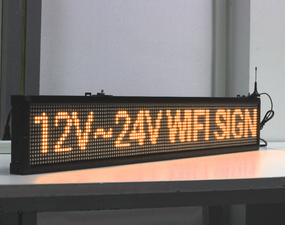 125cm 12V 24V 110-220v AU EU US Popular WIFI Programmable Bus LED Sign / Car Advertising  Sign/factory Production Display Board