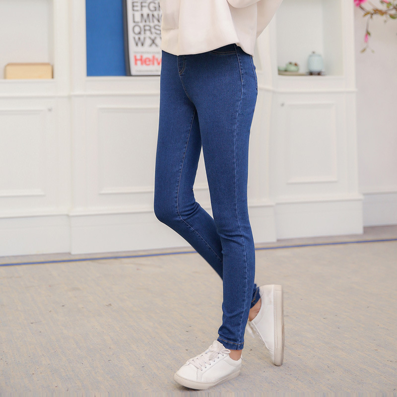 New Fashion Female Casual Solid Womens Jeans High Waist Slim Skinny Women Denim Stretch Basic Plus Size Females Pencil Pants rosicil new women jeans low waist stretch ankle length slim pencil pants fashion female jeans plus size jeans femme 2017 tsl049 page 8