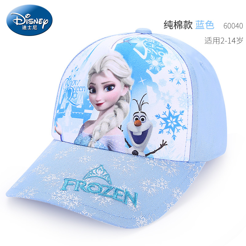 Disney Shampoo Cap Children's cartoon baseball cap Sun Hat Summer Outdoor travel beach Girls boy Frozen Elsa Breathable flat cap 1