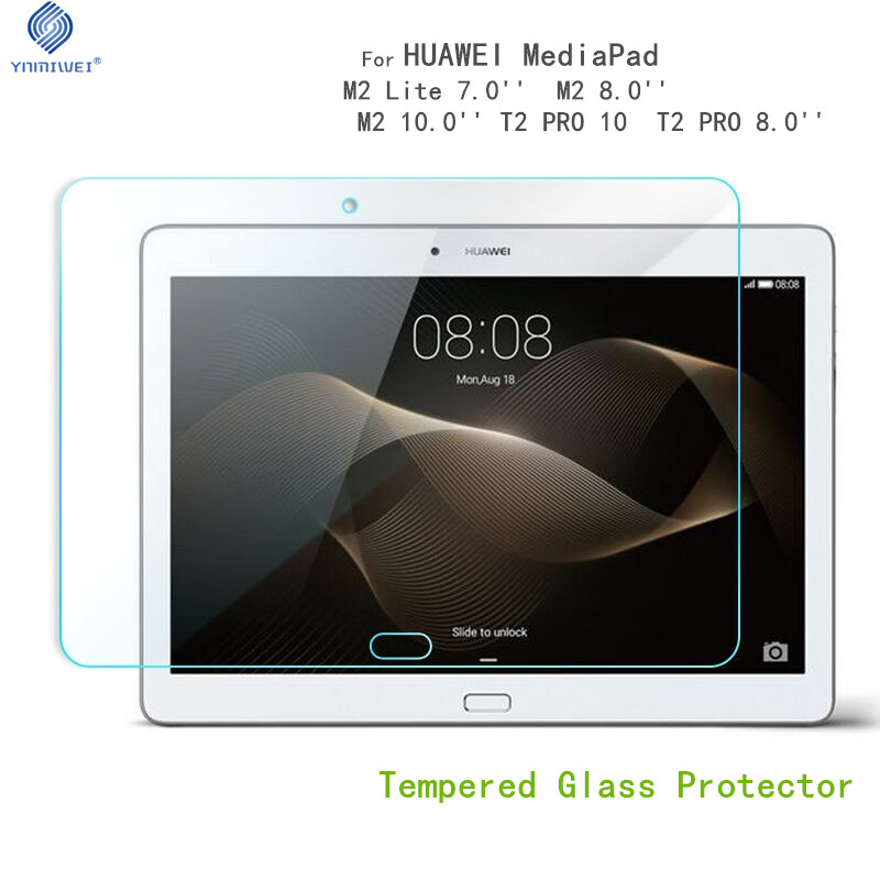 Glass Protector For Huawei Mediapad M2 8.0'' T2 Pro 8.0 10.0 Tablet Screen Protector For Huawei M2 Lite 7.0 Youth Glass Films