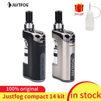 In stock!!! justfog Compact 14 Kit 1500mah built in battery E Cig Vaporizer Kit with Q14 Clearomizer VS justfog q16/ minifit