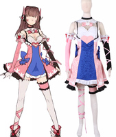 Free Shipping OW Hana Song D Va Lolita Dress Game Cosplay Costume
