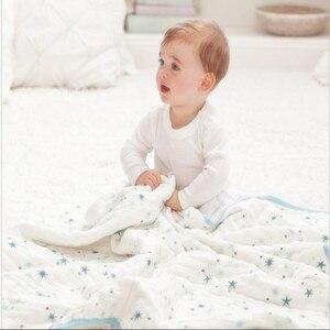 Детское одеяло Aden Anais, 100% бамбуковое волокно, 2 слойные плотные постельные принадлежности для новорожденных, детское одеяло для сна