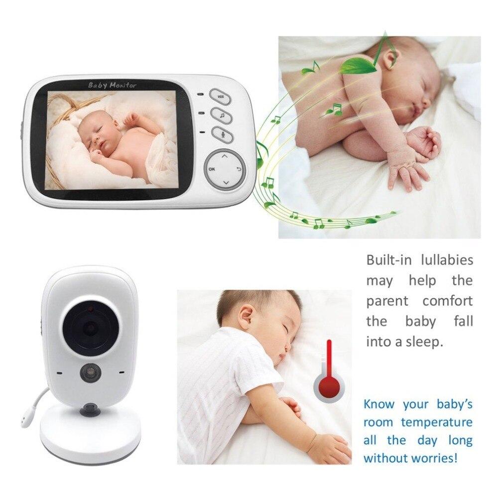 3.2 Polegada Cor LCD Digital Sem Fio Baby Monitor de Visão Noturna de Segurança em Dois Sentidos Falar de Volta VB603 de Monitoramento de Temperatura