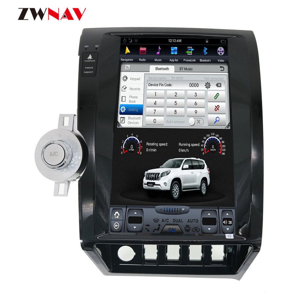 ZWNVA Tesla Style IPS Plus écran Android voiture sans lecteur DVD Navigation GPS pour Toyota toundra 2007-2013 Radio Stere Carplay