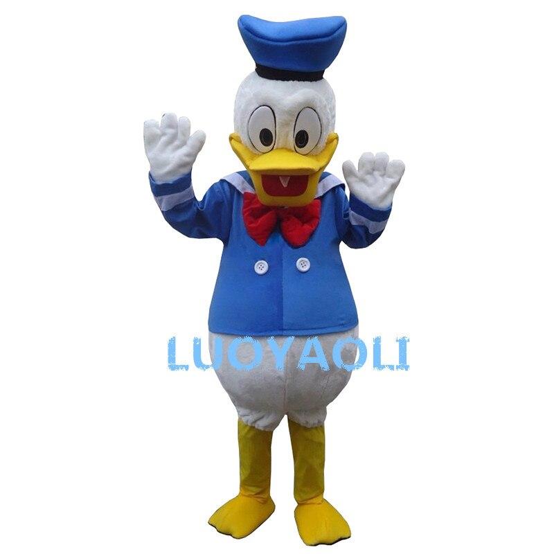 2015 Hot Sale Mascot Cartoon Kostym Donald Duck Dress For Party Gratis frakt