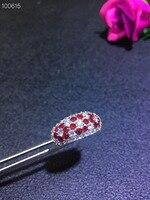 Натуральный красный рубин gem Кольцо с натуральными драгоценными камнями кольцо S925 серебро роскошный большой широкий толстый женские сваде