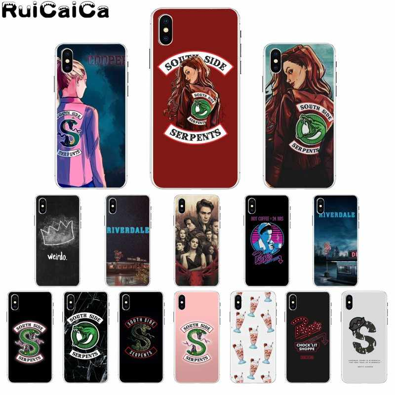 RuiCaiCa American TV Riverdale Newly Arrived Cell Phone Case for Apple iPhone 8 7 6 6S Plus X XS MAX 5 5S SE XR Mobile Cases