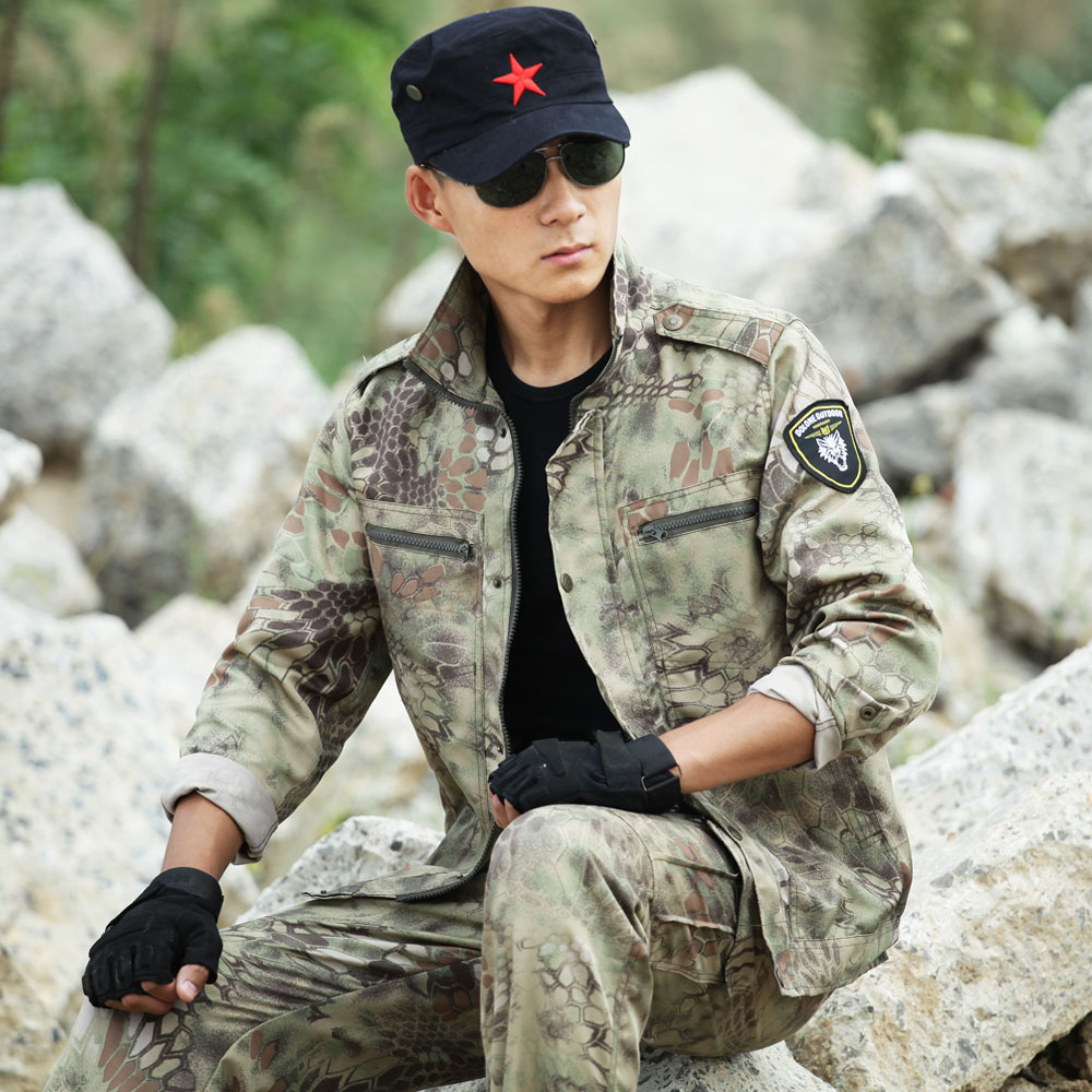 Camouflage Anzug Hunter Jagd Kleidung Outfit Militärische Taktische Multicam Jacken Hosen Kostüm Herren Multicam Kleidung Direktverkaufspreis Sets/garnituren Sportbekleidung