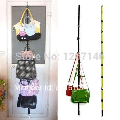 Over Door Hat Bag Clothes Rack Holder Organizer Adjustable Straps Hanger 8 Hooks FZ1004 RgvtZ v9NFe