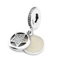 Pandulaso 100% 925 فضة مجوهرات الصداقة ستار استرخى سحر الخرز ل صنع المجوهرات صالح سحر سوار المرأة diy