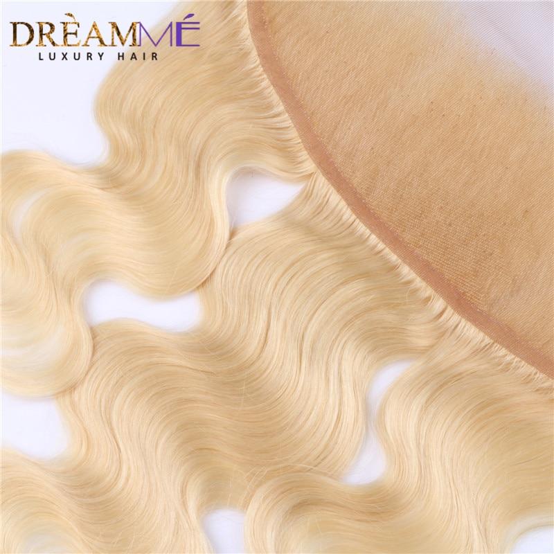 Dreamme Hair # 613 Color Body Wave Lace Frontals sulgemine Brasiilia - Inimeste juuksed (must) - Foto 4
