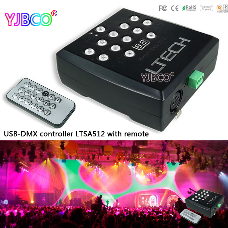 led controller LTSA512 USB-DMX Master controller;DC5V USB Power input; DMX512 Master controller  usb dmx512 controller computer connect with usb control led lamps dmx512 channels input output support windows xp 2000 98se sys