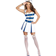 Sleeveless Sailor Uniform Sexy Cosplay Cosutme Woman Conjoined Disfraces Seaman Role Playing Trajes Female Disguisement CA656