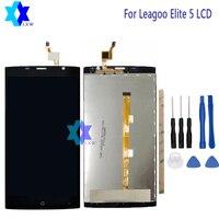 Voor Leagoo Elite 5 Lcd-scherm + Touch Screen Panel Digitale Onderdelen Montage + Gereedschap + Lijm 5.5 inch 1280x720 P