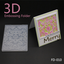 3D Embossing Folder DIY Cutting Dies Scrapbooking High Quality Plastic for Photo Album Paper Craft