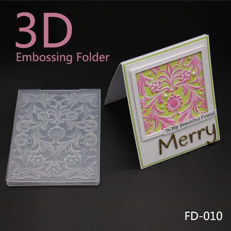 9 Pcs Embossing Folder for Card Making Flower Christmas Heart Star DIY Plastic Scrapbooking Photo Album Card Paper DIY Craft Decoration Template Mold