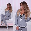 Newest 2015 Women Sportswear Suit Fall Winter Tracksuits Casual Sport Costumes Mujer 2 Piece Set Hoodies Jogging