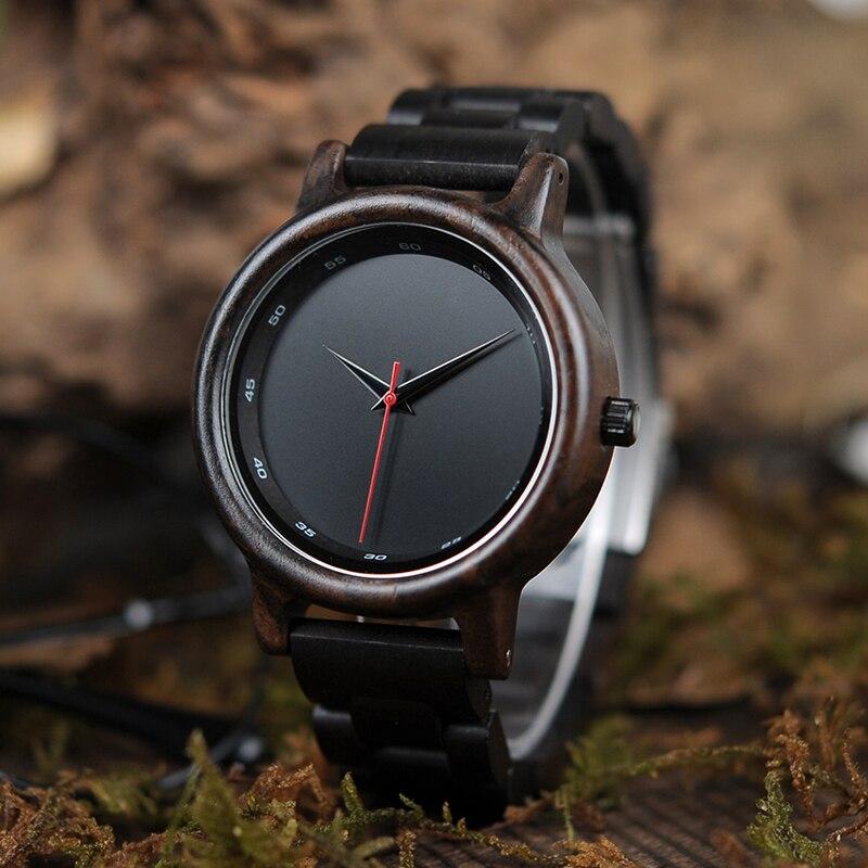 BOBO VOGEL Männlich Hohe Qualität armbanduhr Bambus Holz Uhren Männer in geschenk box individuelles logo erkek kol saati