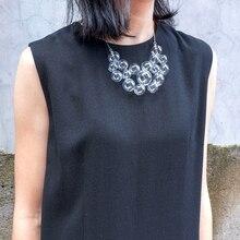 Orijinal el yapımı üflemeli temizle cam küre kolye kadınlar için 2020 benzersiz sabun köpüğü kısa gerdanlık kolye Femme Bjioux