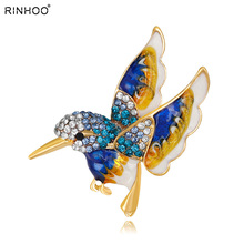 hot deal buy beautiful rinestone colorful bird brooch animal brooches for wedding women decoration wild animal fashion gold jewelry