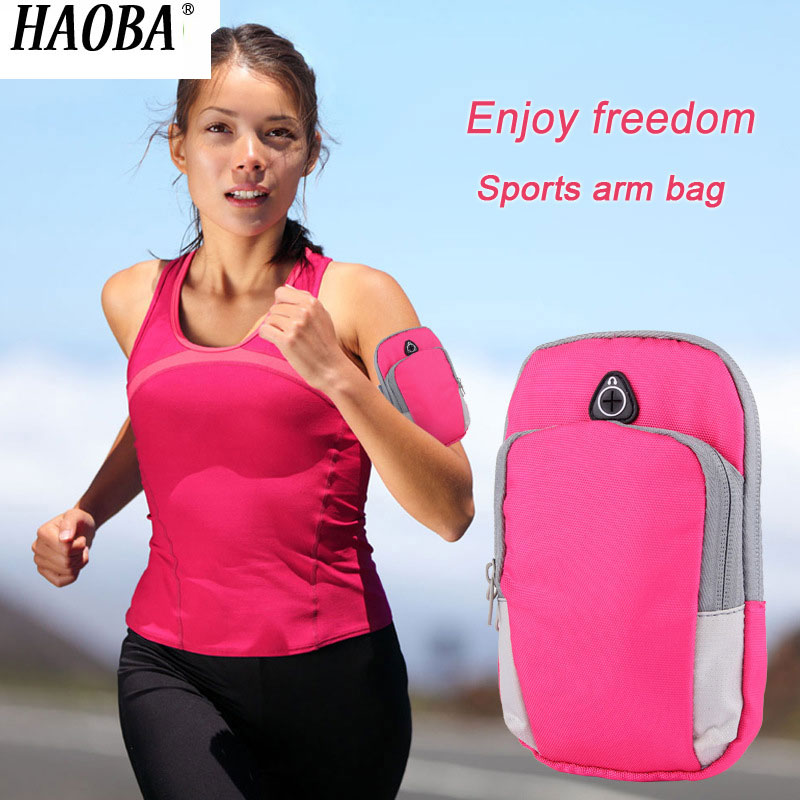 Consumer Electronics Hot Sale Haoba Earphone Case Multi-function Outdoor Fitness Sportswear For Mobile Phone Key Wallet Carry-on Items Running Arm Bag
