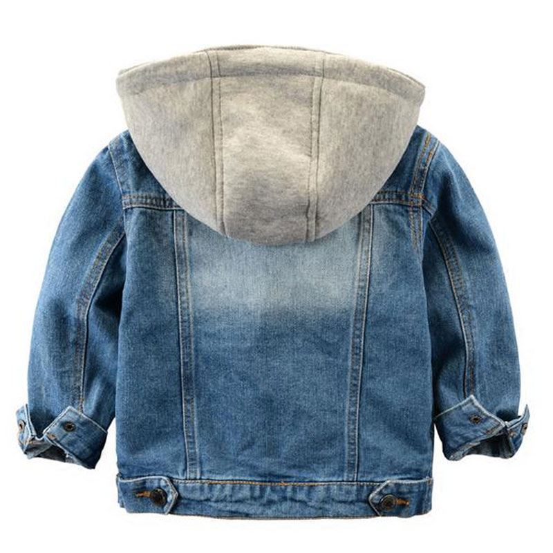 9be623a9d Fashion Denim baby Boys Children outerwear coat kids jackets for ...
