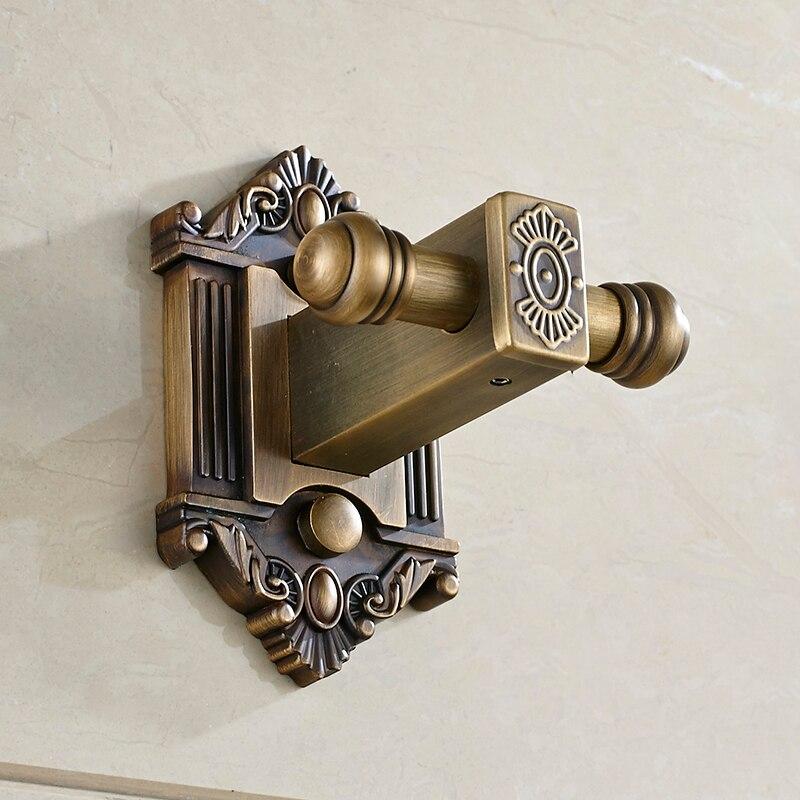 Antique Door Hooks For Clothes Brass Copper Coat Hook Towel Hanger Single  Double Hook Vintage Bathroom Accessories-in Bath Hardware Sets from Home ... - Antique Door Hooks For Clothes Brass Copper Coat Hook Towel Hanger
