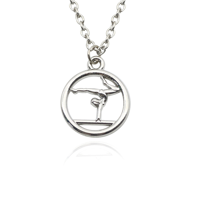 Trendy gymnast girl pendant necklace handmade charm necklaces trendy gymnast girl pendant necklace handmade charm necklaces sport choker collar necklaces pendants for women gifts mozeypictures Gallery