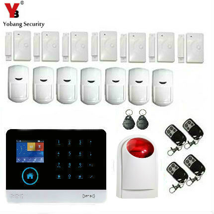 YoBang Security Touch Keyboard WiFi GSM GPR Home Security Voice Burglar Alarm RFID Function,Home Burglar Alarm Against Intrugers