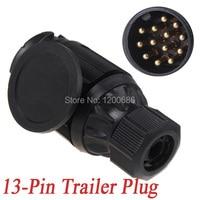 13 Pin Trailer Plug 13 Pole Connector 12V Towbar Towing Caravan Truck Plug N Type