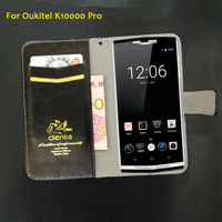 TOP New Oukitel K10000 Pro Case 5 Colors Flip Luxury Leather Case Exclusive Phone Cover Credit
