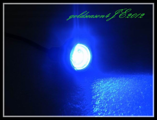 Blue Hidden Led Eagle Eye SMD Car License Plate Stud Screw Bolt Light Bulb