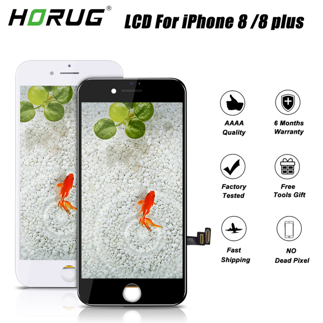 online retailer 52151 f9a67 US $28.77 30% OFF HORUG AAAA Quality Screen LCD For iPhone 8 Plus Screen  Display Assembly Replacement LCD 8 Plus Digitizer Touch Screen LCDS-in  Mobile ...